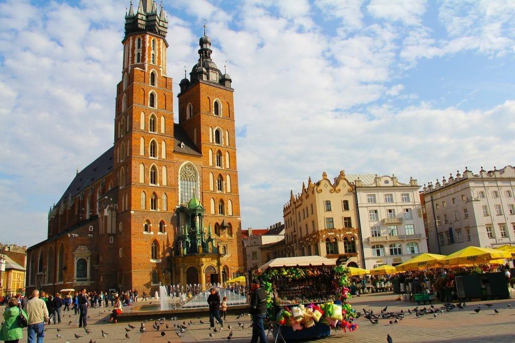 praça do mercado da Cracóvia